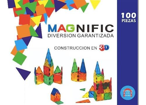 Imagen 1 de 10 de Bloques Imanes Didácticos Magnéticos Educativos 100 Piezas