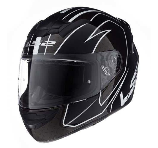 Casco Integral Ls2 352 Rookie Fire Blanco Negro Moto Calle