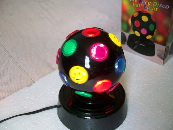 Abajur Globo Giratório - Smile Face Disco Ball Light - Leia