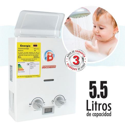 Calentador Paso A Gas 5.5 Litros Garantía 3 Años Boccherini
