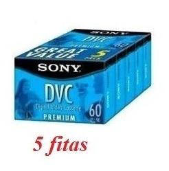 Fita Mini Dv Sony Dvm-60pr - Caixa Com 05 Unidades