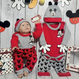 Regalo Recien Nacido Minnie Mickey Mouse Body Pantalo Gorro