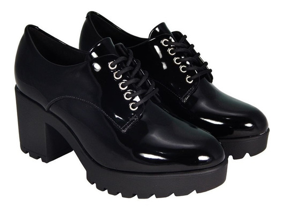 Sapato Oxford Vizzano Salto Tratorado
