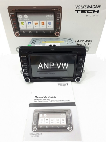 Central Multimídia Wi-fi Original Vw Amarok Fox Gol Jetta Tiguan Voyage Volkswagen