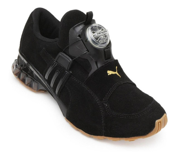Tênis Puma Disc Cell Aether Nature Masculino - Preto/dourado