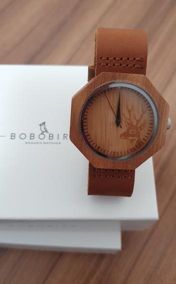 Relógio Bobo Bird De Madeira De Bambu - Original