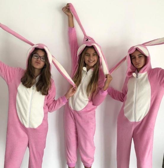 Pijama Conejo Infantil, Color Rosa, Talle S, M Y L Hermosos!