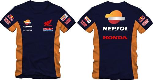 Imagem 1 de 7 de Camisa Honda Racing Team Repsol Marquez 93 Camiseta Ref.260