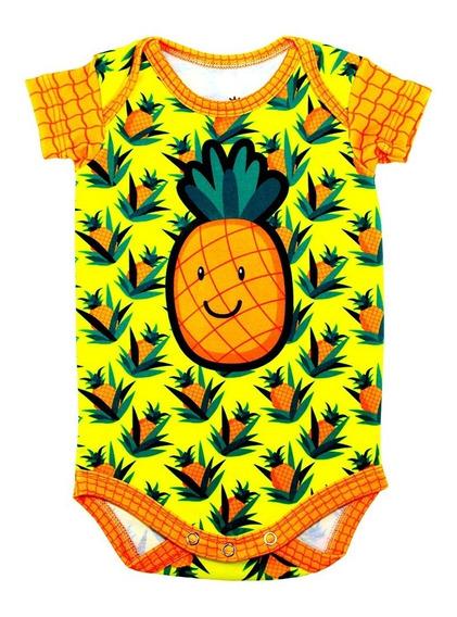 Body Bebê Estampado Abacaxi - Isabb