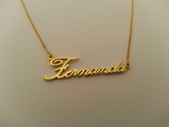 Nome Fernanda Personalizado Em Banho De Ouro 18k