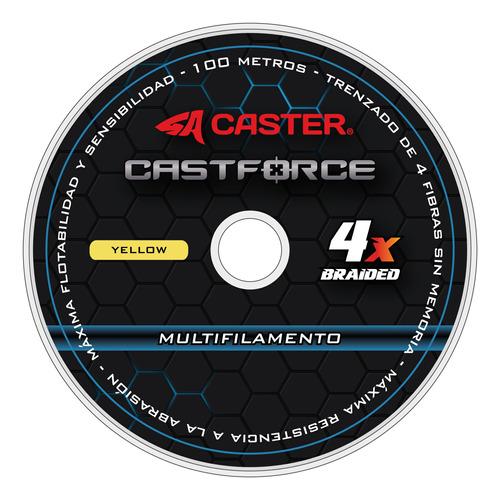 Imagen 1 de 6 de Multifilamento Caster Castforce 4x 0.25mm 600m