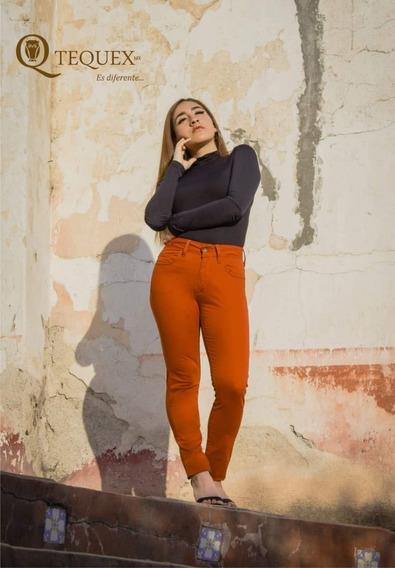 Pantalón Mujer Gabardina Slim Fit Semiformal Push Up