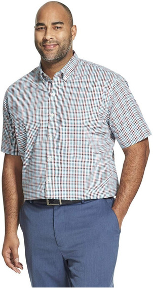 Camisa Van Heusen Flex 3xl Natural Stretch Big Mens Xxxl