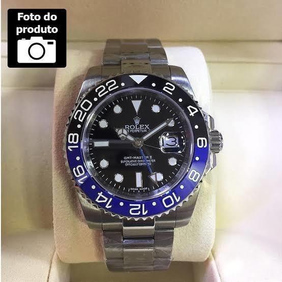 Relógio Rolex Gmt 2 Anos De Garantia
