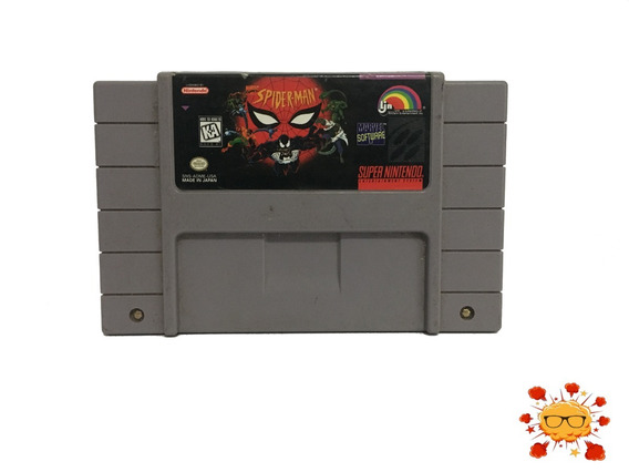 Jogo Spider Man - Original - Super Nintendo - Snes