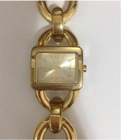 Relógio Euro Dourado Original Seminovo Funcionando