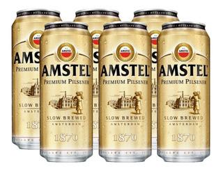 Cerveza Amstel Rubia Lata 473 Cc