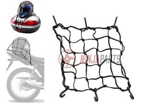 Rede Elastica Aranha P/ Moto Capacete 42cm X 42cm Bagageiro