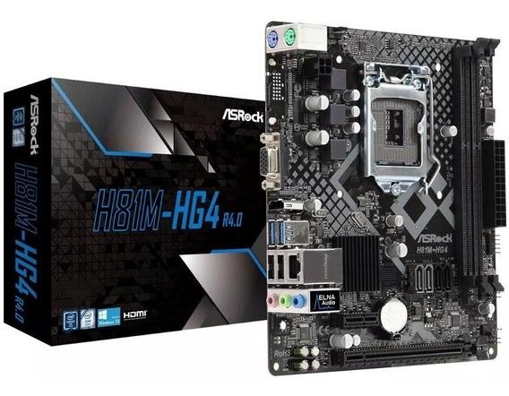Placa-mãe Asrock P/ Intel Lga 1150m-hg4 R4.0 4a Geração