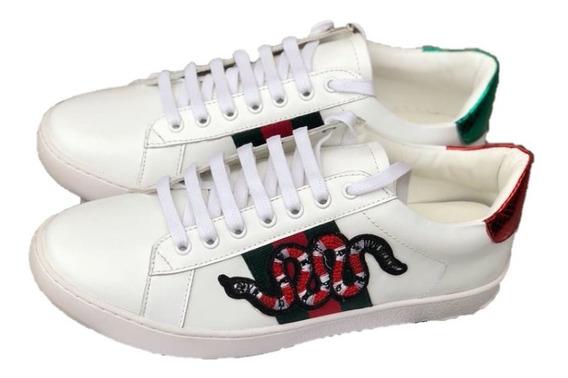 Tenis Sneaker Gucci Serpiente Snake Blancos Envio Gratis