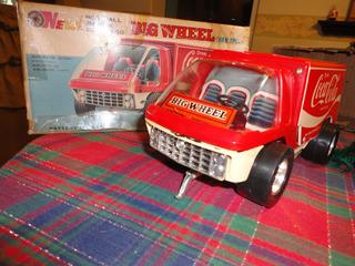 Vintage 70 Big Wheel Vantruck Cocacola De Hojalata A Bateria