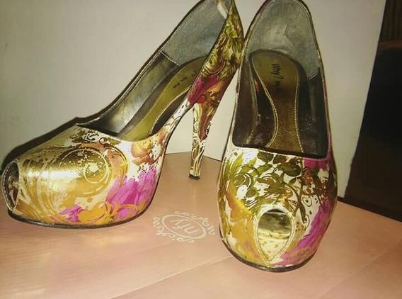 Zapatos De Fiesta !! Solo Un Uso