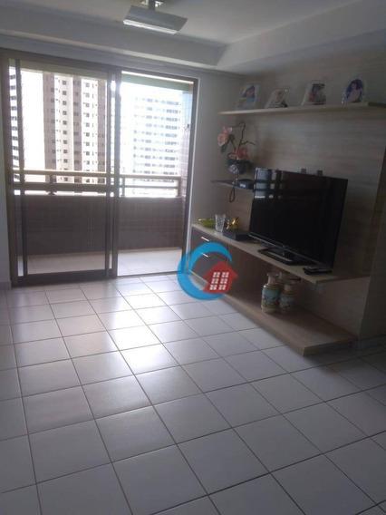 Edf. Maria Rosa - Apartamento Com 3 Dormitórios Para Alugar, 84 M² Por R$ 1.750/mês - Rosarinho - Recife/pe - Ap9913