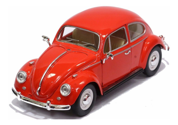 Miniatura Volkswagen Fusca Clássico 1967 Vermelha 1/24