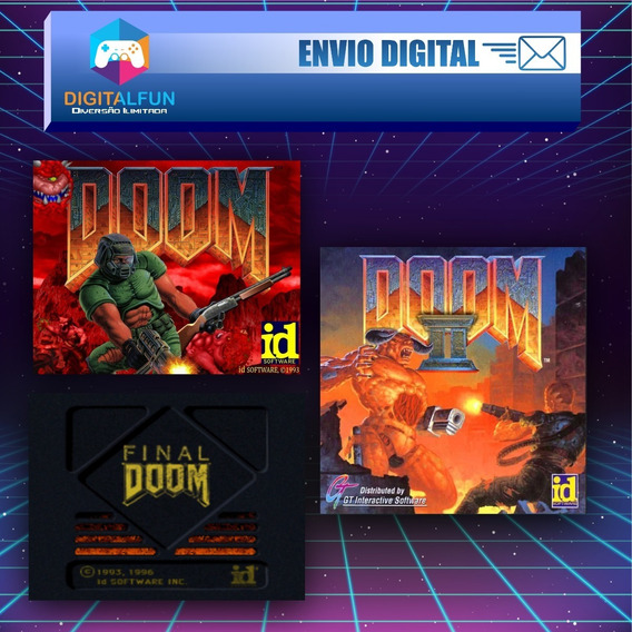 Jogo Ultimate Doom + Doom 2+ Final Doom (envio Digital)