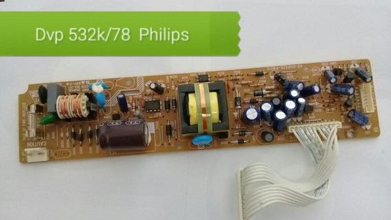 Placa De Fonte Dvd Philips Dvp532k/78