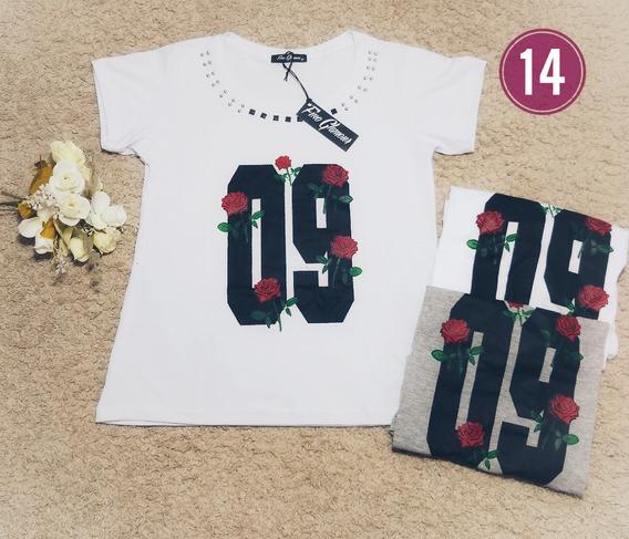 Kit 10 Blusas Femininas Camisetas Blusinhas Camisas Marca
