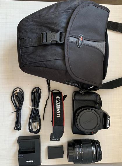 Canon Eos Rebel T6 Ef-s 18-55 + Bag, Alça E Adaptador Sd