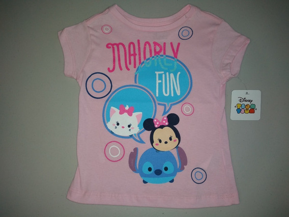 Playera Niña Tsum Tsum Mary, Minnie Y Stitch Disney Talla 6