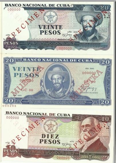 13 Cedulas Cuba Specimen Muestra E Mais.