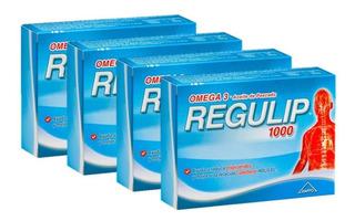 Regulip 1000 Suplemento Dietario Omega 3 Colesterol X4 Unid