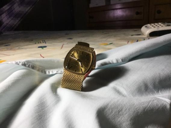 Relogio Omega Todo Dourado, Unissex, Revisado, Pulseira