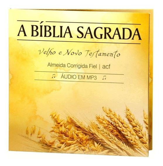 Cd Bíblia Sagrada Em Áudio Almeida Corrigida Fiel Completa
