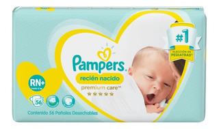 Pampers Premium Care 56 Pañales Rn +