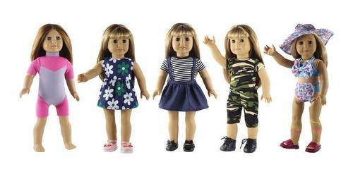 Imagen 1 de 5 de 5 Coloque La Ropa De La Muñeca Para 18'' American Girl Muñec