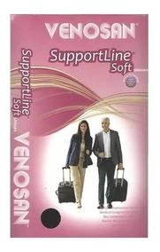 Meia Support Line Soft 3/4 Unisex18-22 Mmhg Venosan - Preto