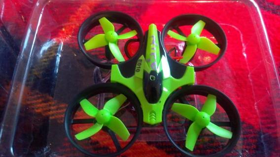 Mini Drone Verde Eachine E010 2.4ghz Em Ótimo Estado E Pilha
