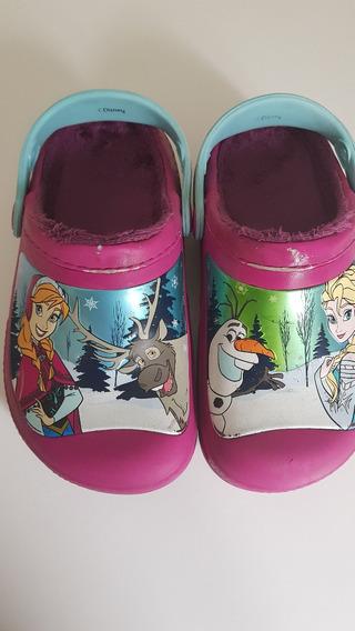 Crocs Nena Frozen Abrigadas Numero 12-13