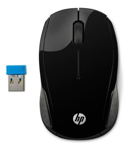 Imagem 1 de 3 de Mouse Sem Fio Hp  200 Preto