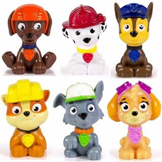 Paw Patrol 6 Figuras Muñecos Torta Chase Zuma Rocky Skye Mar