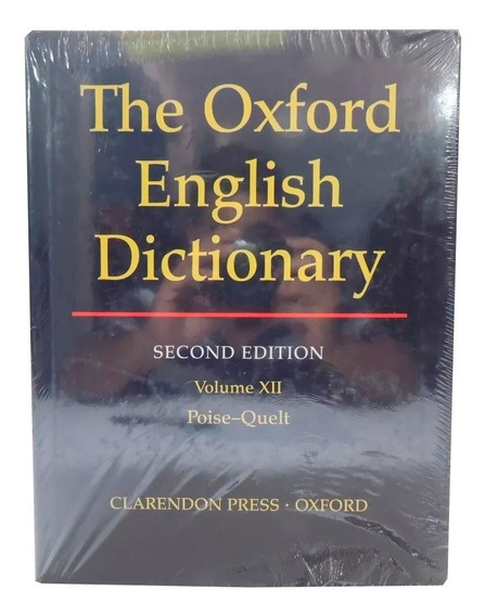 Livro The Oxford English Dictionary 2nd Vol. 12 Em Inglês