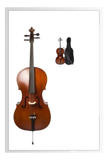 Violoncello 4/4 Macizo Pino Carved Cello Stradella Mc601544