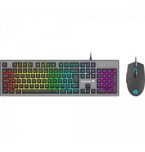 Combo Teclado + Mouse Gamer Rgb Rainbow Ranger Fortrek