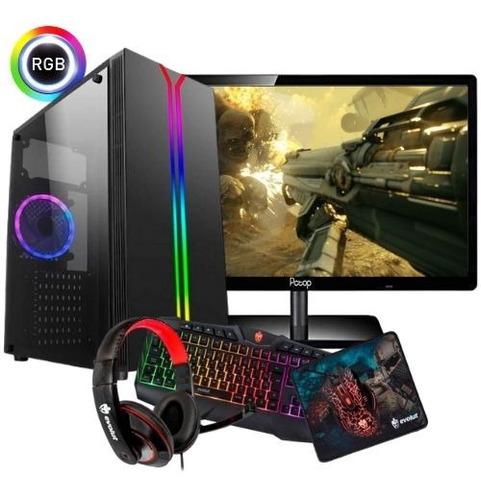Pc Completo Gamer Athlon 200ge, Monitor Wide 18.5, Wifi