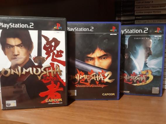 Trilogy Onimusha 1/2/3 Originais Ps2 Pal Europeu.