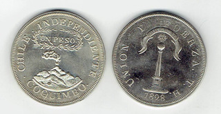 Moneda 1 Peso De Coquimbo, 1828 (repro). Jp